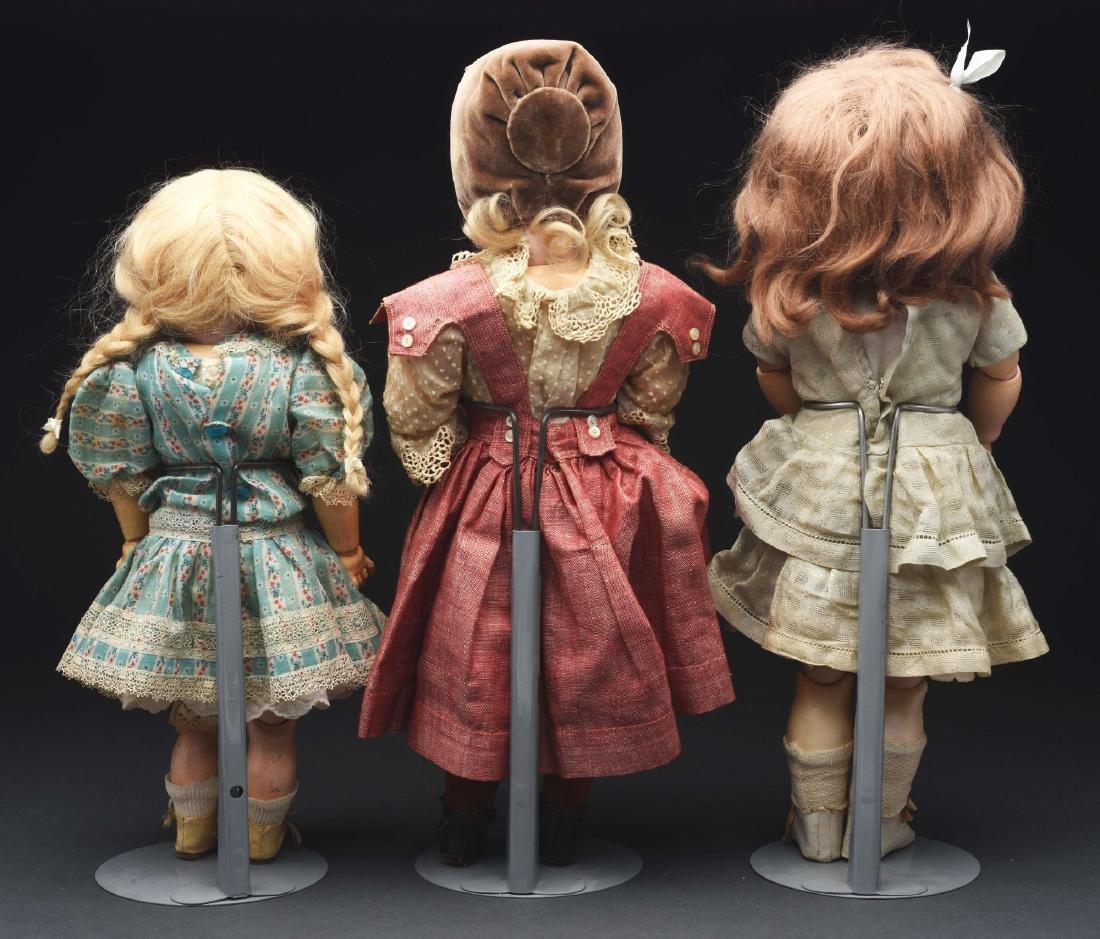 Lot of 3: German Bisque Head Dolls. - 5