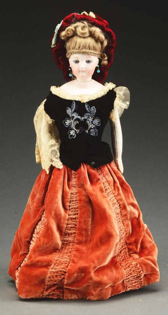 """Very Attractive 16"""" Unmarked French Fashion Doll."""