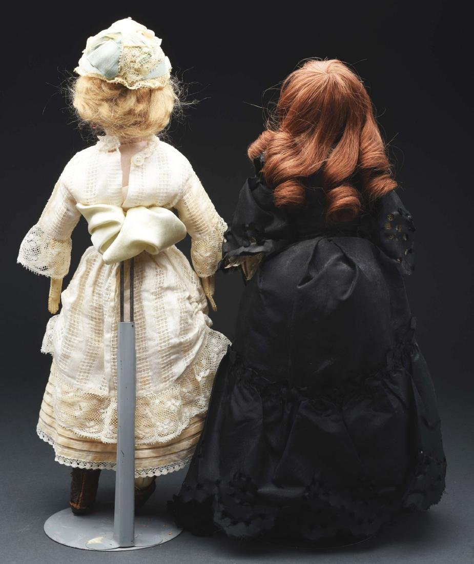 Lot of 2: Bisque Head Fashion Dolls. - 4