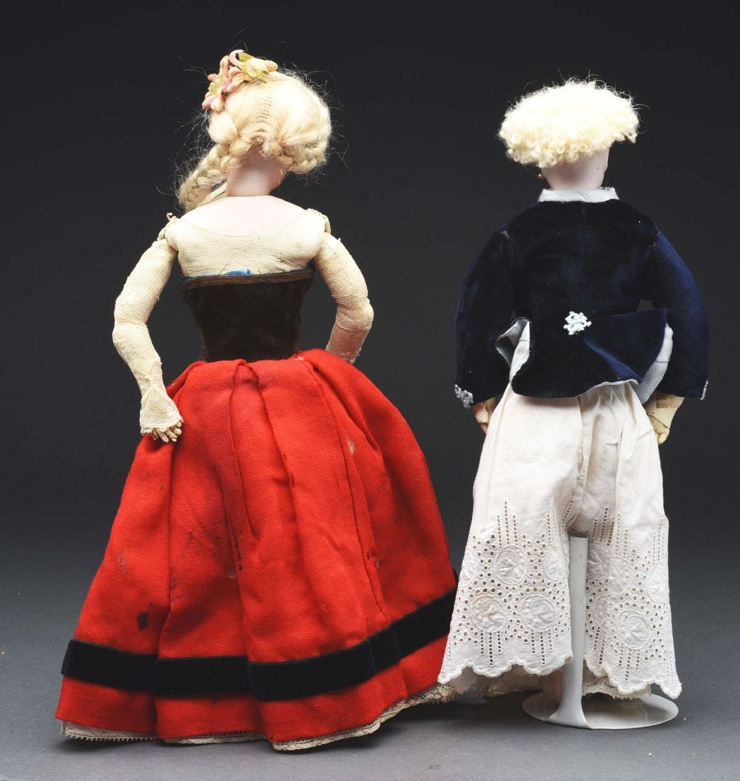 Lot of 2: Small French Fashion Dolls. - 4