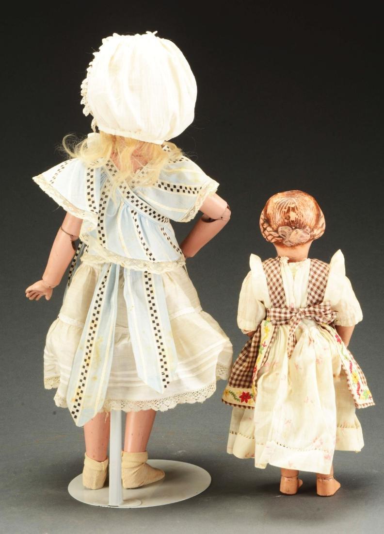 Lot of 2: Wooden Schoenhut Dolls. - 2