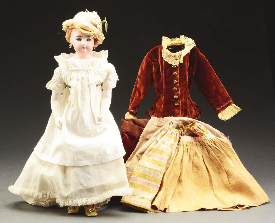 Large Gauthier French Fashion Doll with Additional
