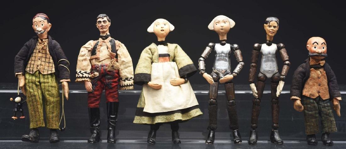 Lot of 6: Swiss Jointed Bucherer Dolls.