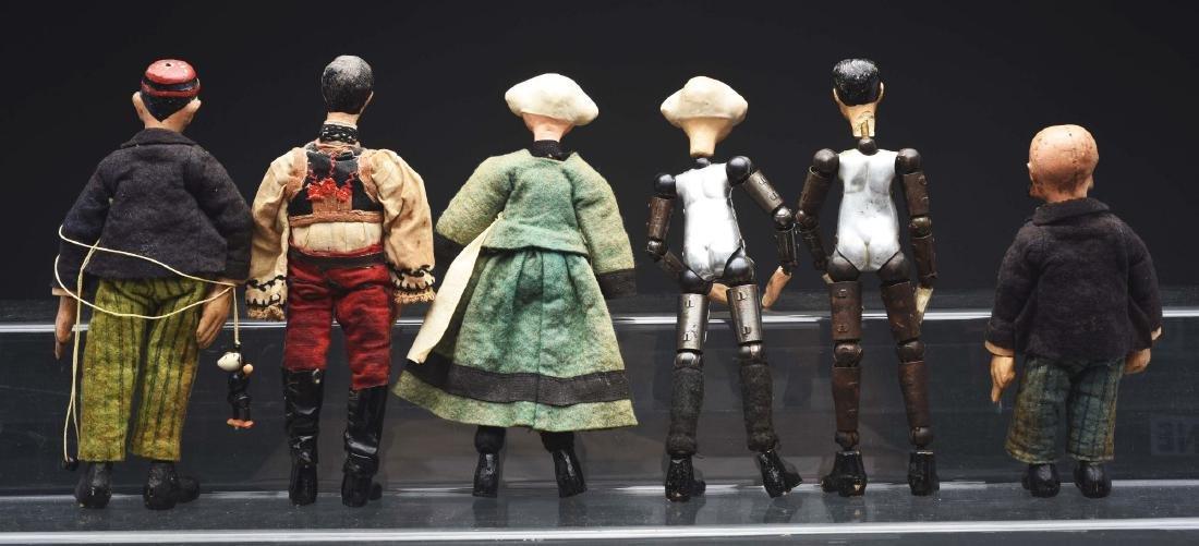 Lot of 6: Swiss Jointed Bucherer Dolls. - 2
