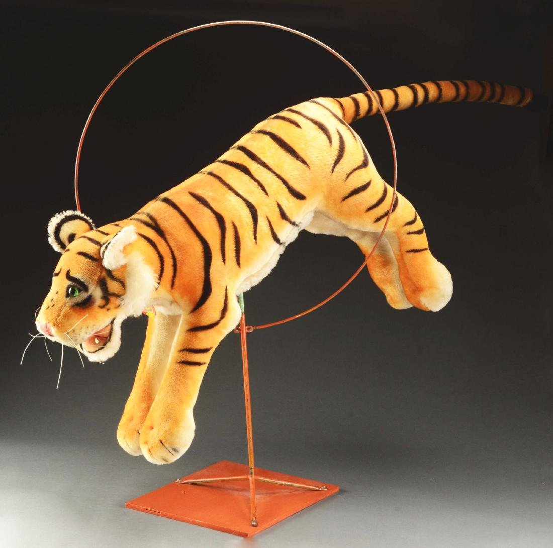 Steiff Studio Studio Tiger Jumping Through Hoop.