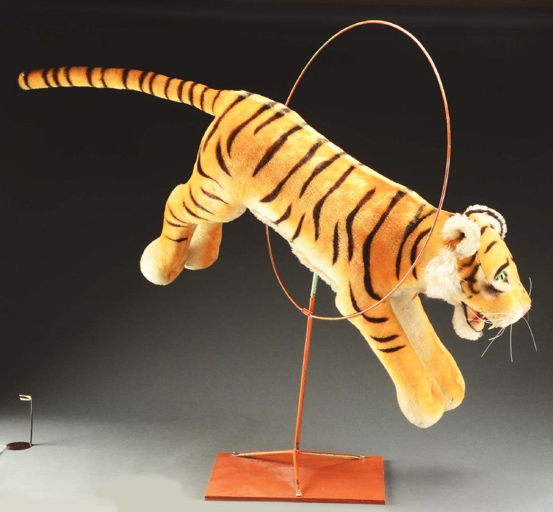 Steiff Studio Studio Tiger Jumping Through Hoop. - 2