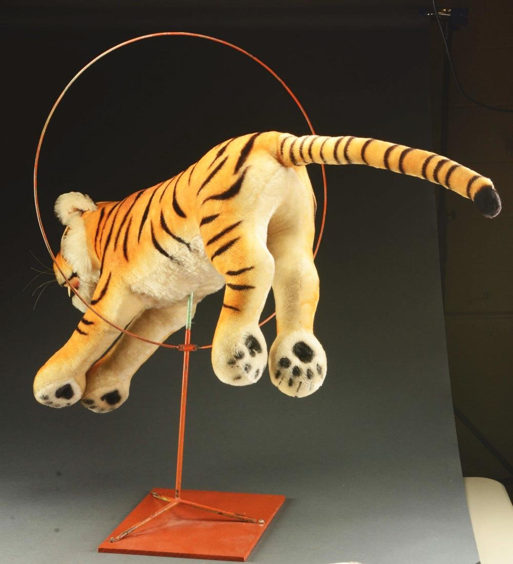 Steiff Studio Studio Tiger Jumping Through Hoop. - 3
