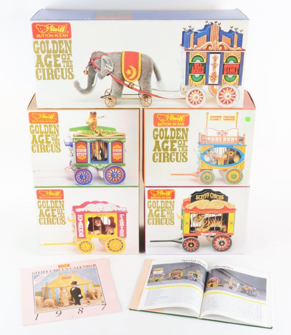 Steiff Limited Edition Golden Age Of The Circus Set.