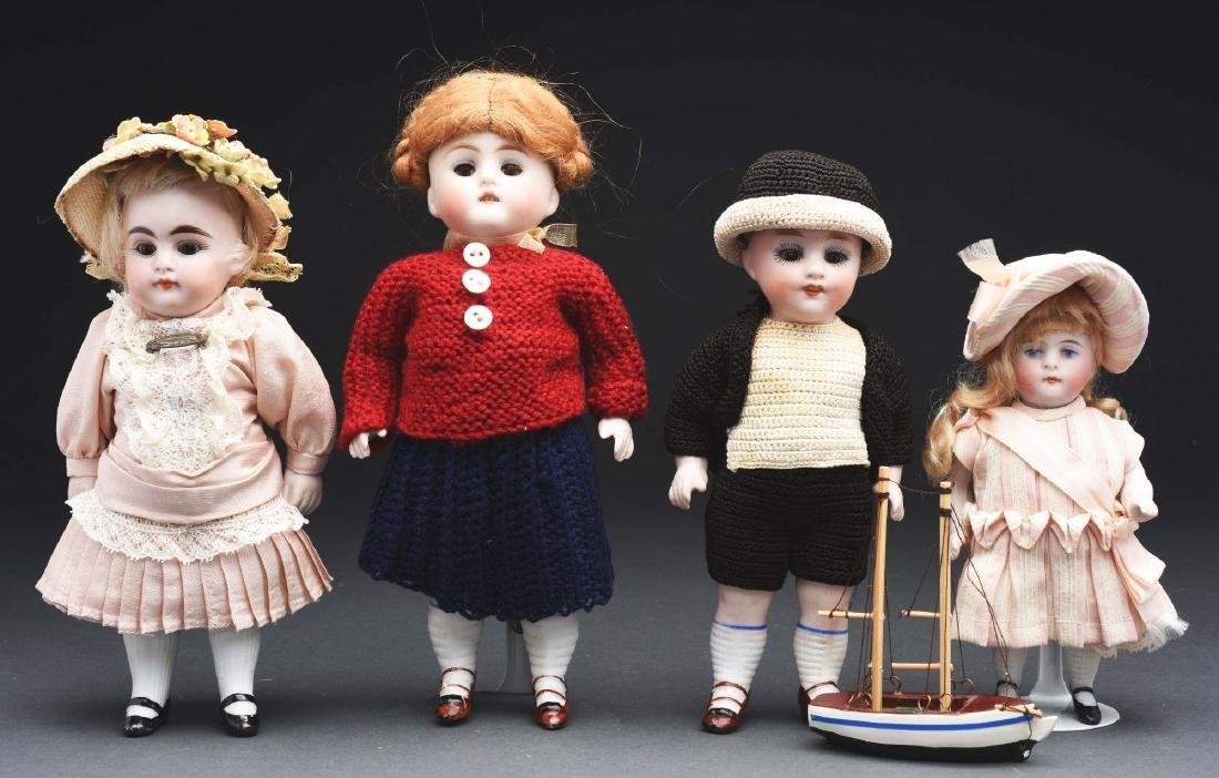 Lot of 4: Kestner All Bisque Dolls.