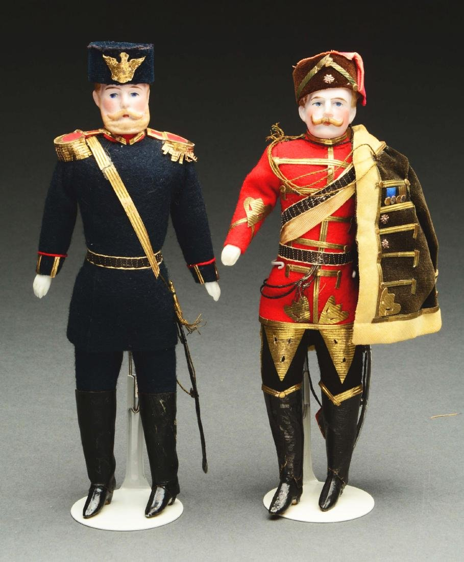 Lot Of 2: Exceptional Dollhouse Soldier Dolls.