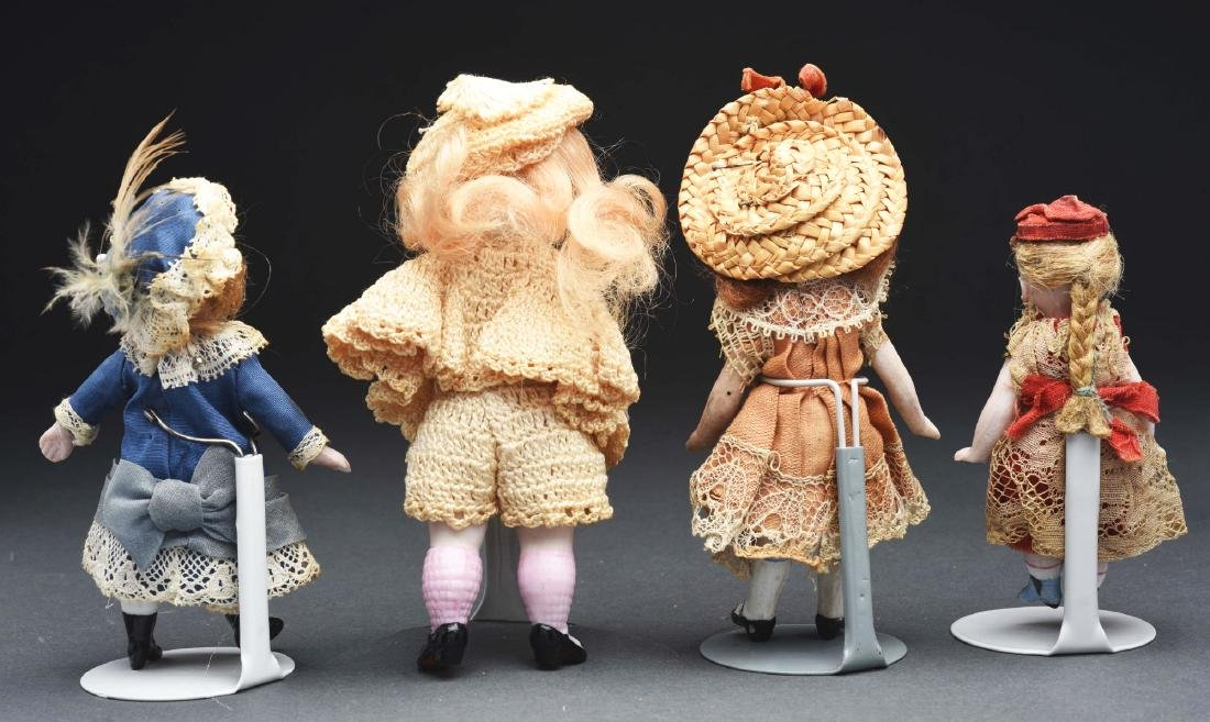 Lot of 4: German All Bisque Dolls. - 2