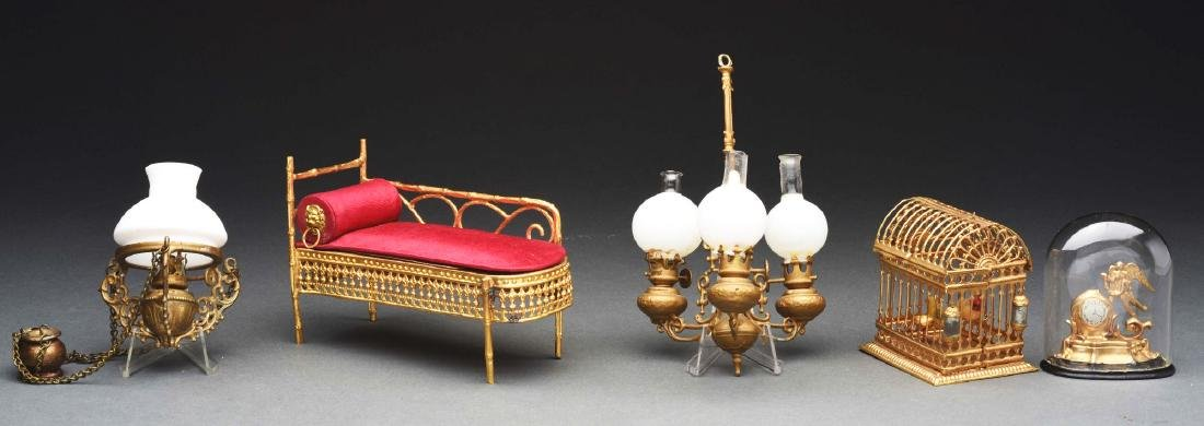 Lot Of 5: Ormolu Chaise Lounge & Other Items.