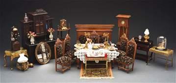 Dining Room with Upholstered Velvet Furniture.