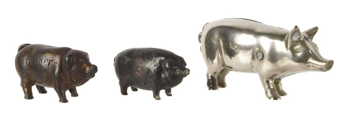 Lot Of 3: Pig Still Banks.