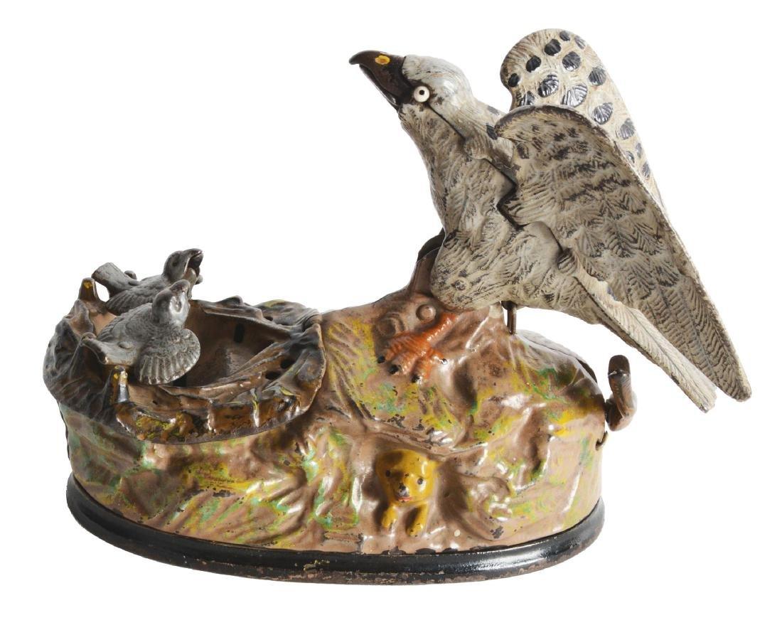 Eagle And Eaglets Mechanical Bank.