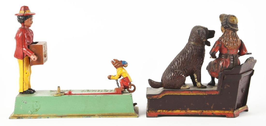 Lot Of 2: Speaking Dog & Monkey Bank. - 2
