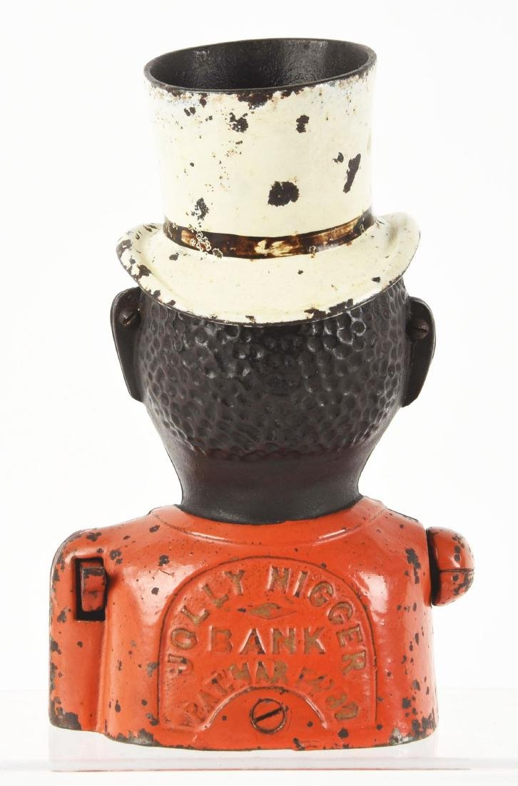 English Jolly N with High Hat Mechanical Bank. - 2