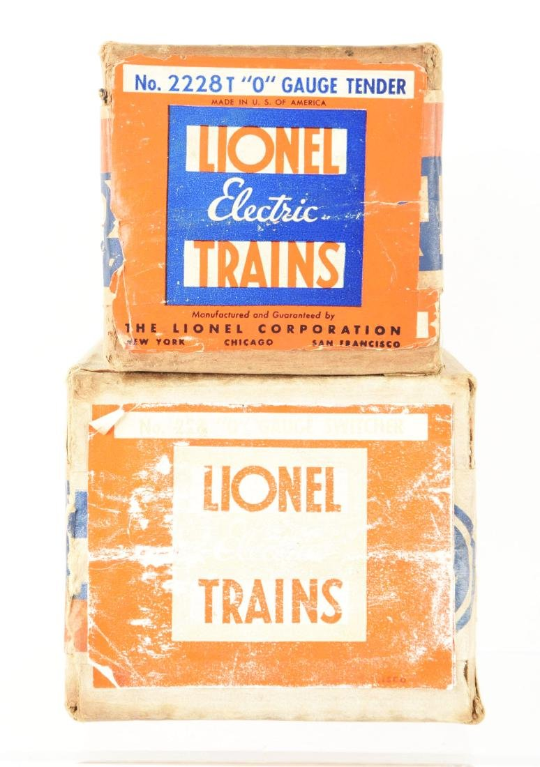 Lot Of 2: Lionel No. 228 Switcher & Tender with Boxes. - 3
