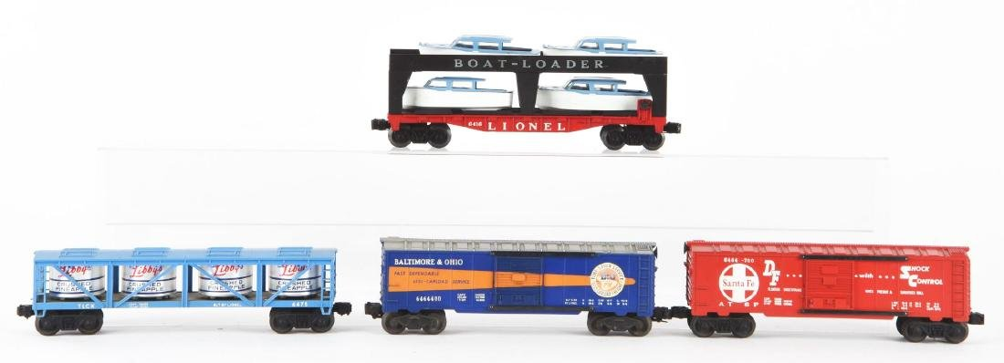 Lot of 4: Lionel 6464 Series Freight Cars.