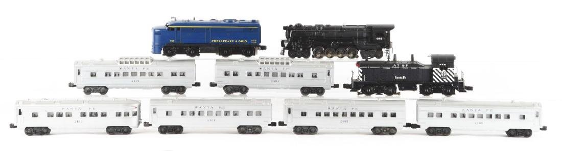Lot of 9: Lionel 616 Santa Fe Engine and Passenger - 2