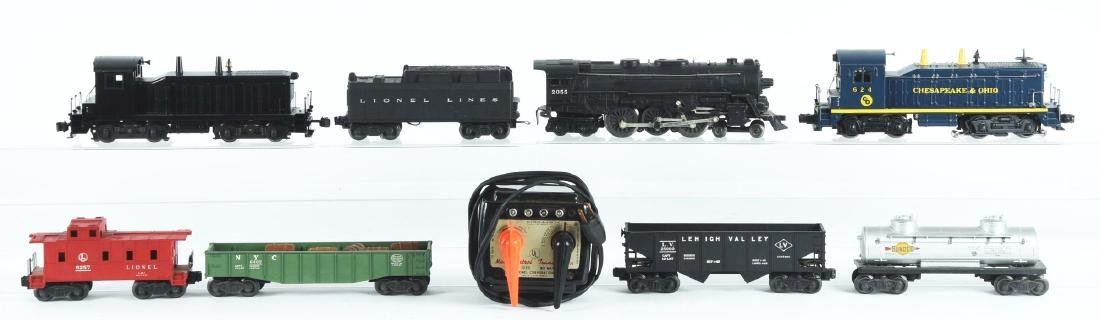 Lot Of 10: Lionel Engines and Freight Cars.