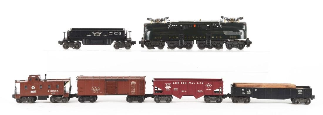 Lot of 6: Lionel No. 2330 PRR GG1 Engine with Freight