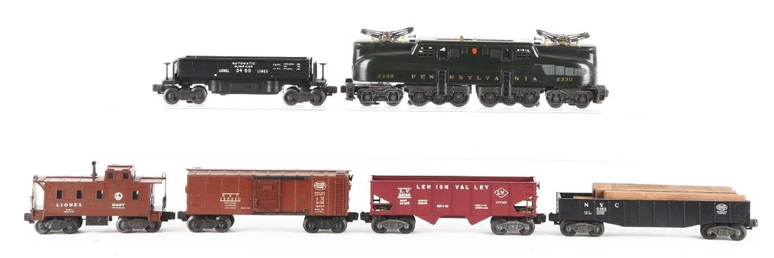 Lot of 6: Lionel No. 2330 PRR GG1 Engine with Freight - 2