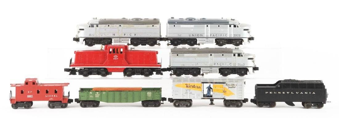 Lot of 8: Two Union Pacific Alco Diesels and Assorted