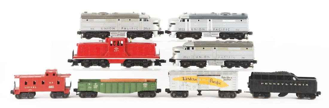 Lot of 8: Two Union Pacific Alco Diesels and Assorted - 2