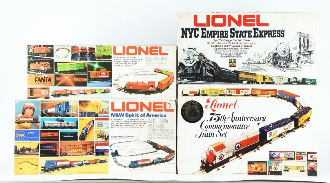 Lot Of 5: Lionel Train Sets In Boxes.