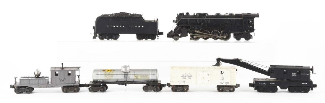 Lot of 6: Lionel No. 726 Steam Locomotive with Freight - 2