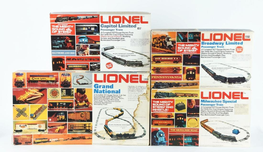 Lot Of 4: Lionel Train Sets In Boxes.