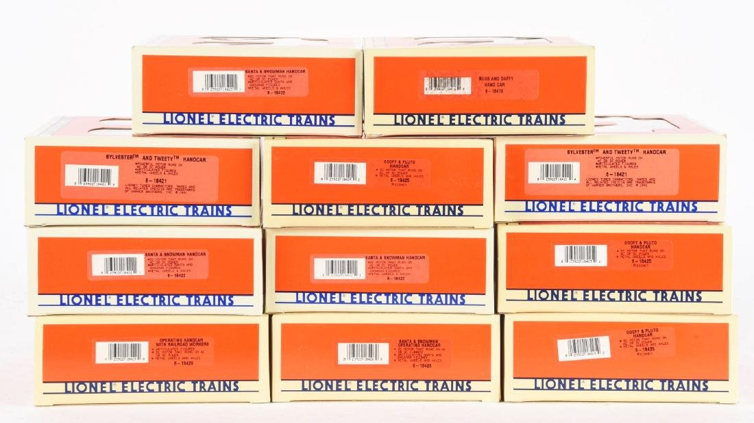 Lot Of 11: Lionel Operating Handcars with Comic - 2