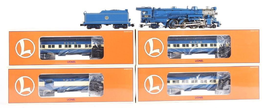 Contemporary Lionel Blue Comet Train Set in Box.
