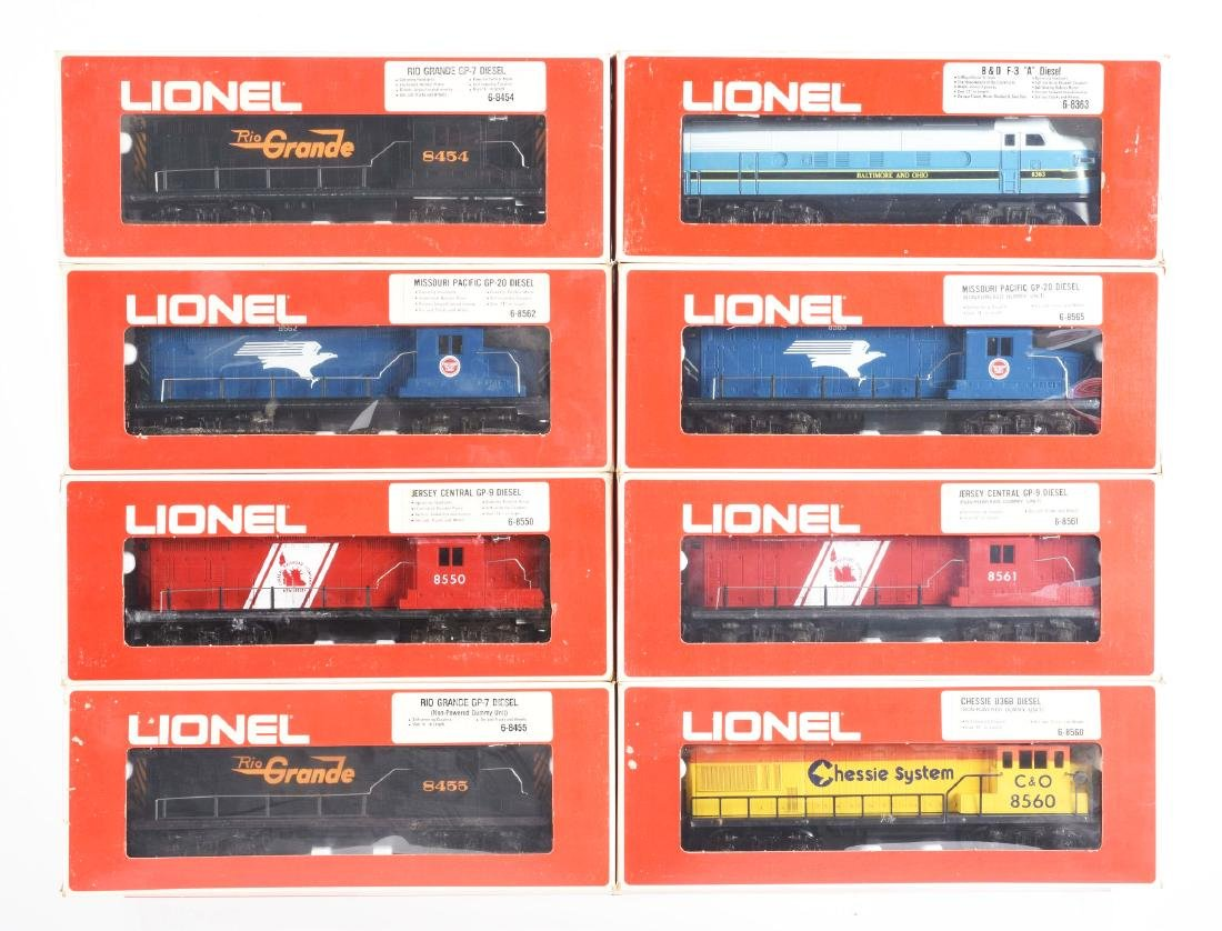 Lot Of 8: Lionel Diesels In Boxes.
