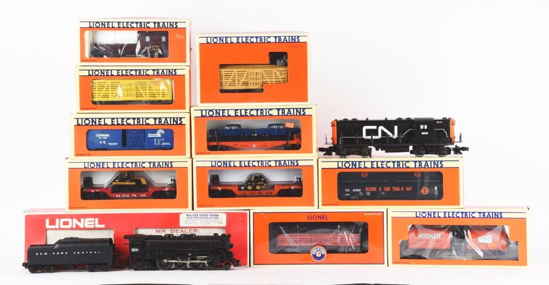 Lot of 12: Lionel No. 8206 Locomotive Freight Cars.