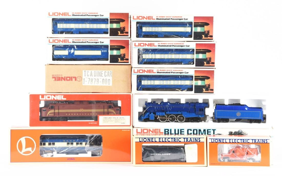 Lot Of 11: Lionel Blue Comet, Other Locomotives and