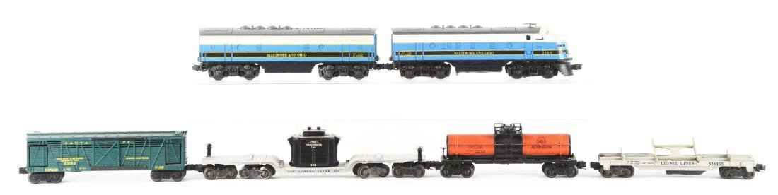 Lot of 6: Lionel No. 2368 B&O AB Units and Freight