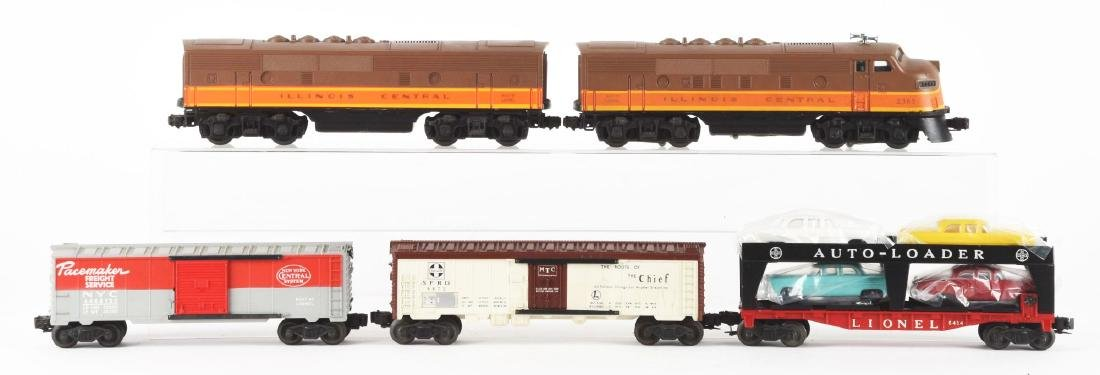 Lot of 5: Lionel No. 2363 Illinois Central AB Unit and