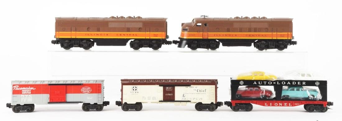 Lot of 5: Lionel No. 2363 Illinois Central AB Unit and - 2