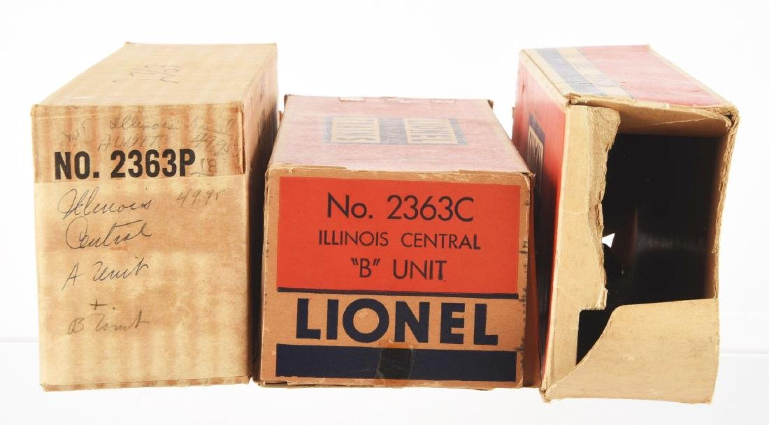 Lot of 5: Lionel No. 2363 Illinois Central AB Unit and - 3