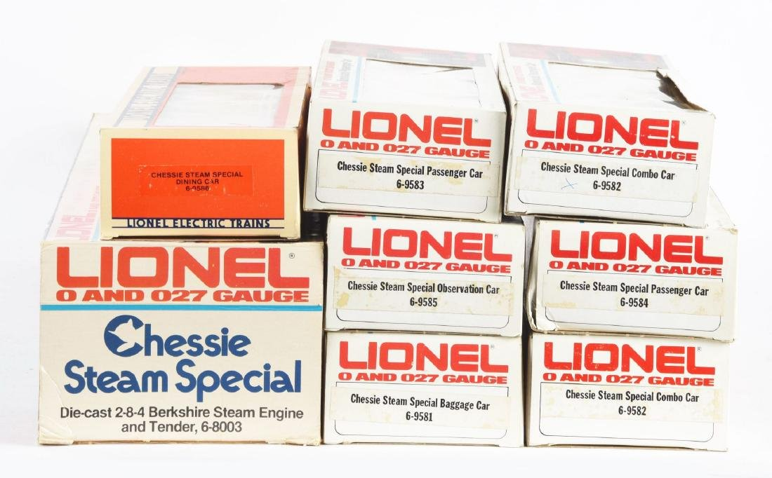 Lot Of 8: Lionel Chassie Special Steam Set In Boxes O - 2