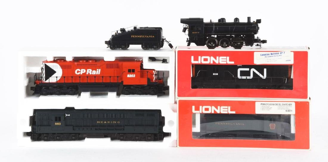 Lot Of 5: Lionel Diesel Trains In Boxes.
