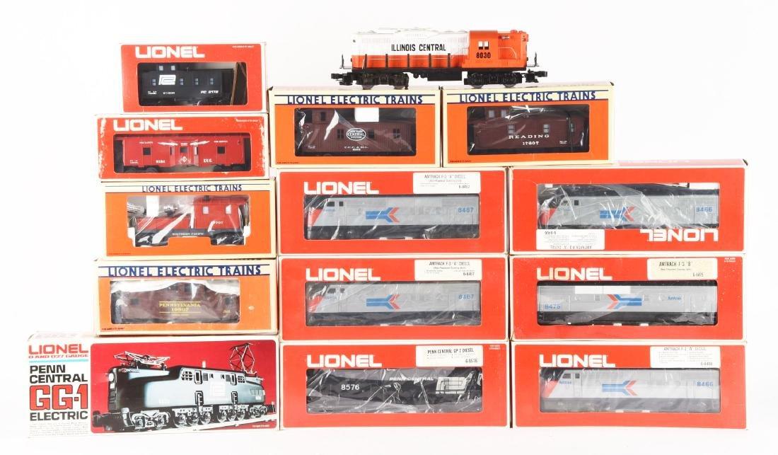 Lot of 13: Lionel Amtrak F3 Diesel Engines, PRR GG1s