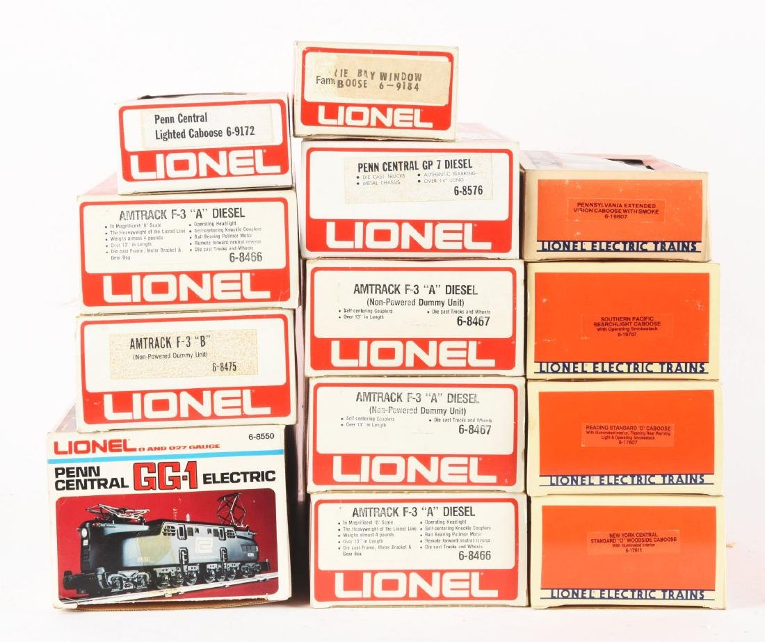 Lot of 13: Lionel Amtrak F3 Diesel Engines, PRR GG1s - 2