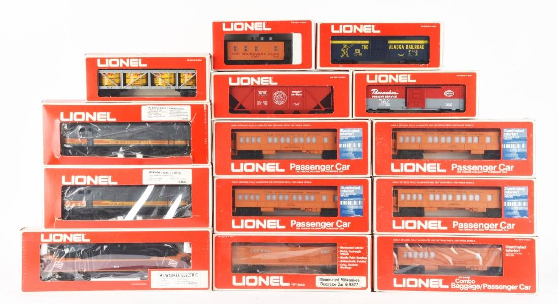 Lot of 14: Lionel Milwaukee Road Train Sets With