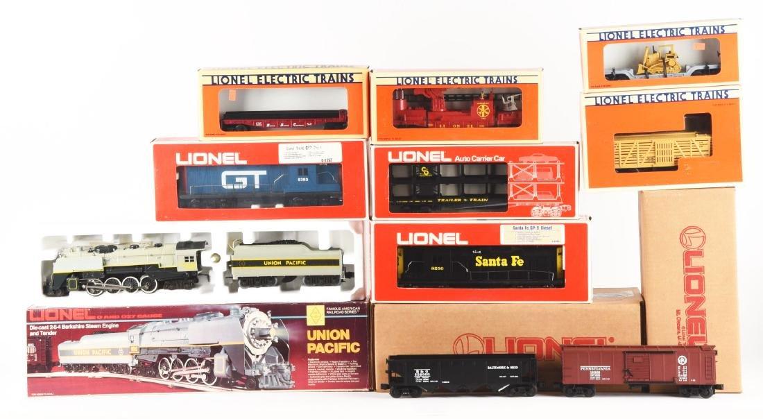 Lot of 12: Lionel Post 1970 Locomotives & Rolling Stock