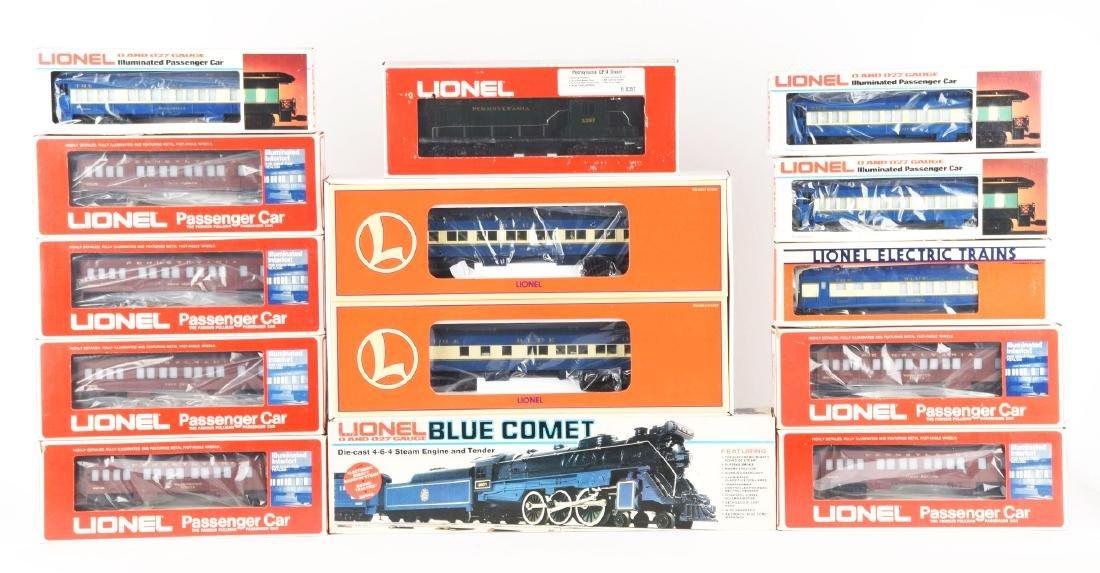Lot of 13: Lionel Sets Of Locomotives & Passenger Cars