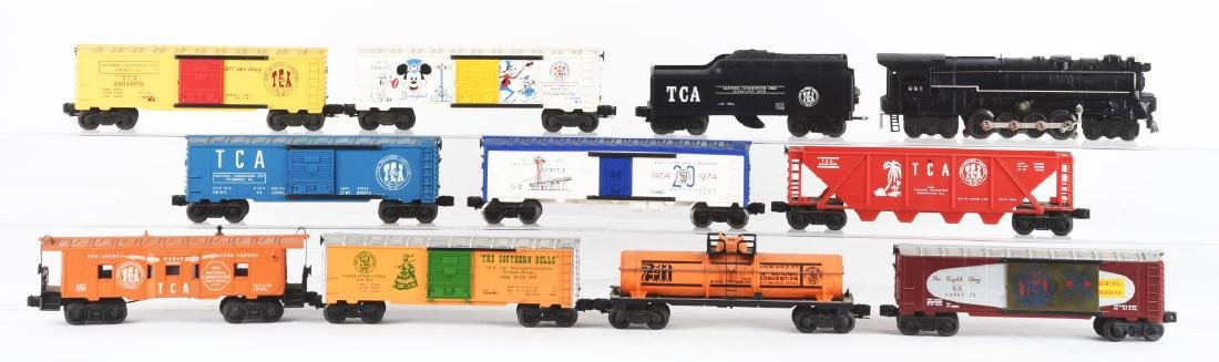 Lot Of 12: TCA Lionel No. 682 Engine with Freight Cars.