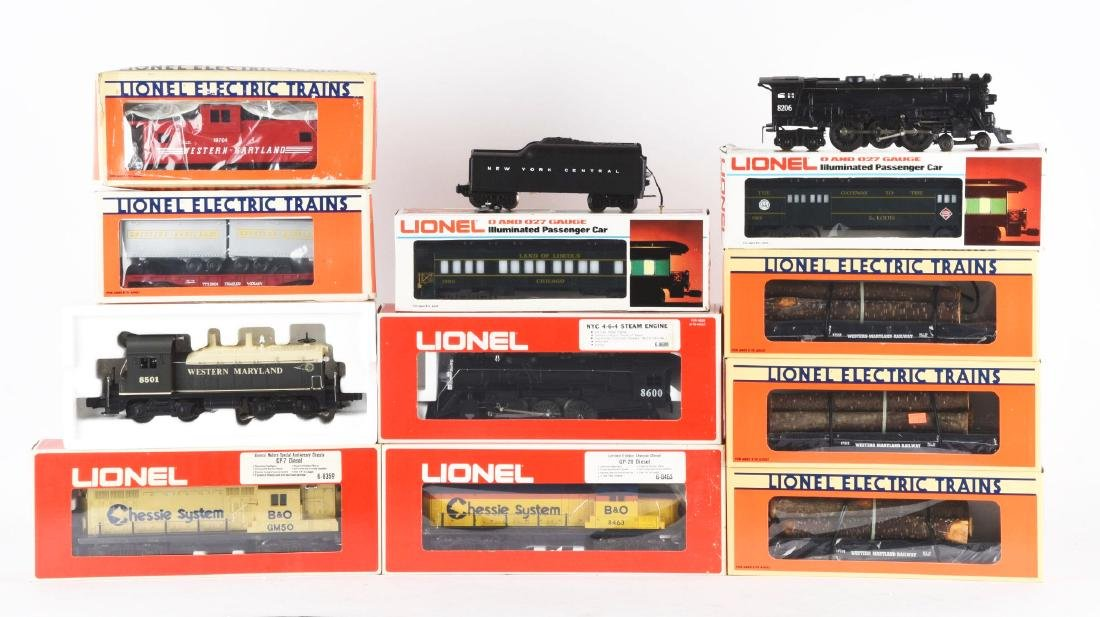 Lot of 10: Lionel Western Maryland & Chessie Items In